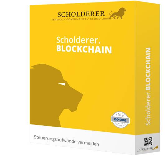 Scholderer.BLOCKCHAIN - Steuerungsaufwände vermeiden